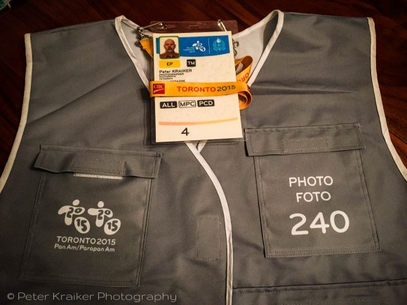 Media pass and photo vest - front