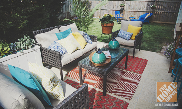 simple patio decorating ideas throw