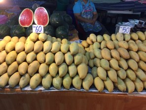 Mango stand at local market