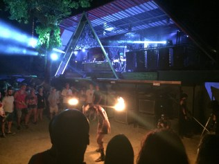 Fire performer at Half-Moon Party