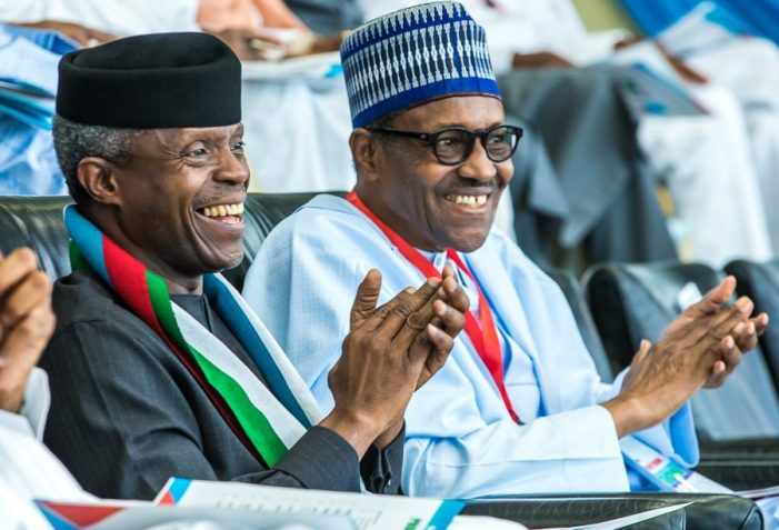 PHOTOS OF THE DAY:  Buhari, Osinbajo, Oshiomhole and others at the APC national convention