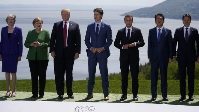 G7: Trump isolated on trade and Russia as leaders meet