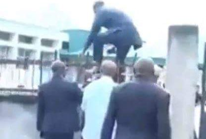 Benue lawmakers scale fence to enter Assembly Complex