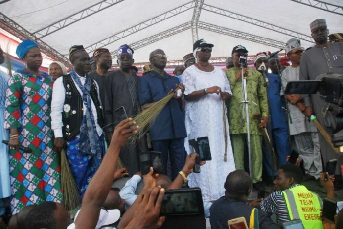 PHOTOS OF THE DAY:  All for Akpabio's defection to APC