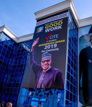 PHOTO OF THE DAY:  Buhari visits campaign office
