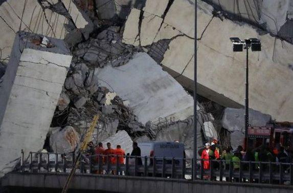 Foreign Titbits:  Italy bridge: Rescuers search for survivors in Genoa