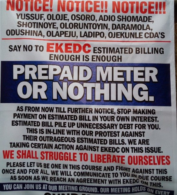 SPECIAL FEATURES:  Estimated Billing: How Communities in Lagos Battle Eko Distribution Plc