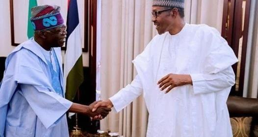 Tinubu arrives Aso Villa to meet Buhari