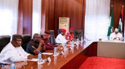 Buhari meets Ekweremadu, Southeast governors at Aso Rock
