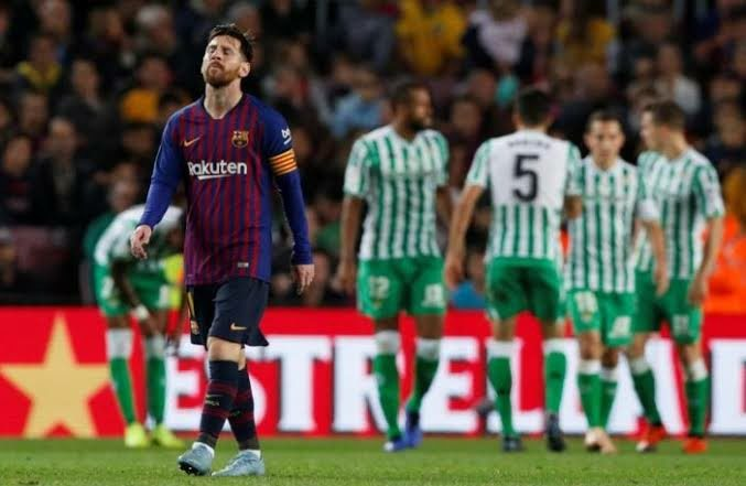 Messi returns with double but Barca lose at home to Real Betis