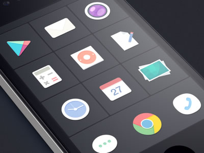 Flat Design UX Mobile