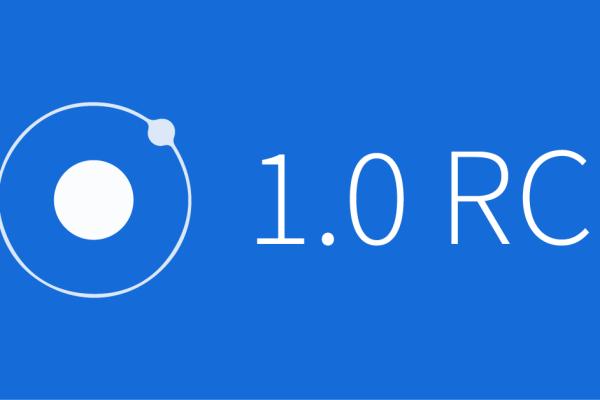 Ionic-Framework-10-RC-blue-background