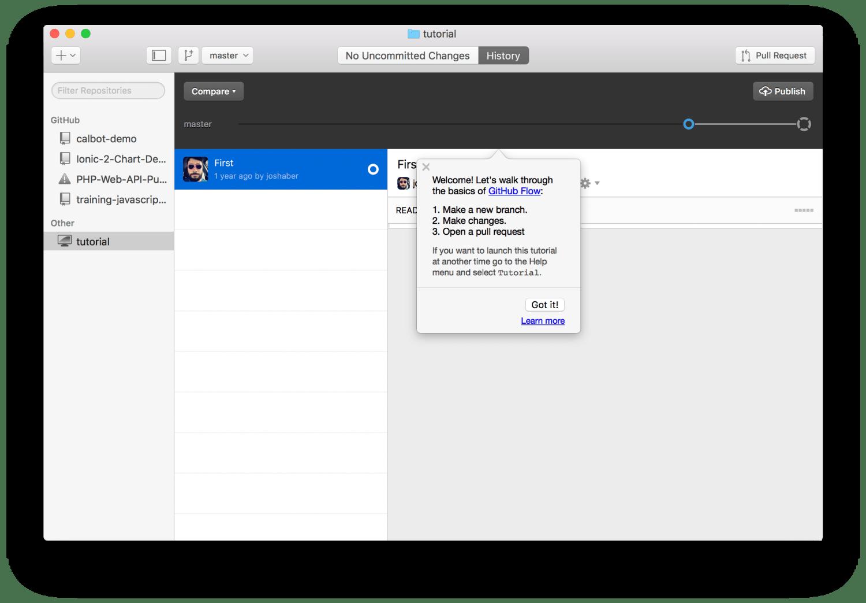 Github Desktop บน macOS