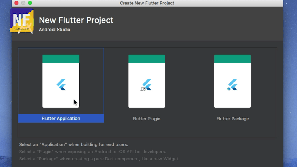 Google Flutter Create Project Android Studio choose project type