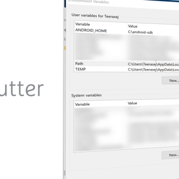 Setup Google Flutter SDK on system path Windows
