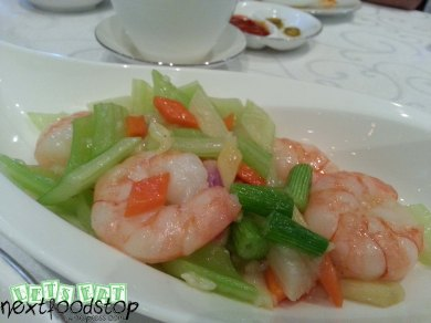 prawns with celery