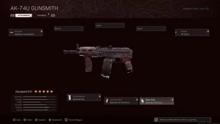 Metralhadora AK-74U
