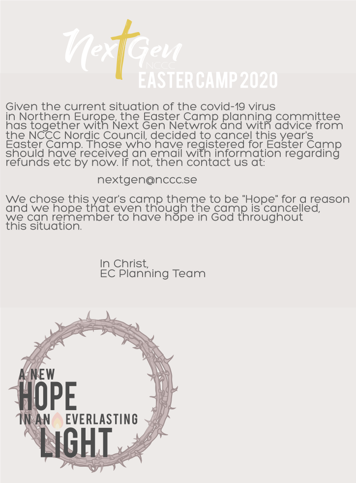 Easter Camp 2020 Cancelled