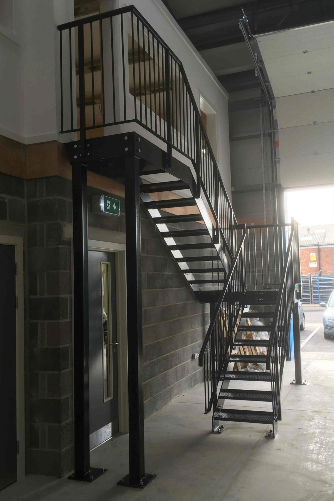 Steel Staircase Powder Coated and Fabricated