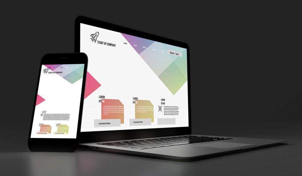 Landing page - wizualizacja