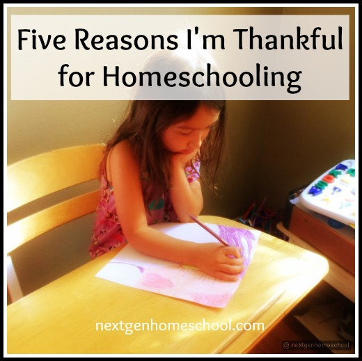 thankful for homeschooling