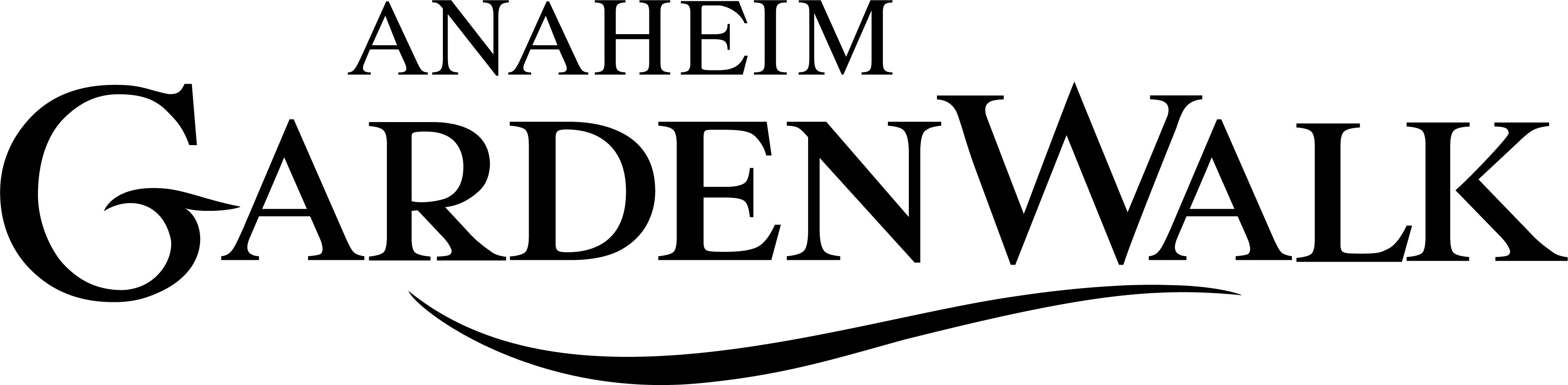 Anaheim GardenWalk Transparent Logo