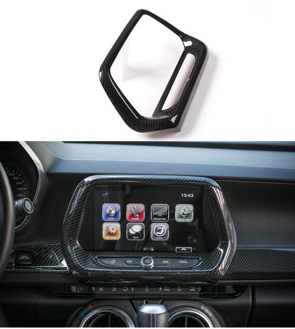 Radio Screen Trim Cover – Carbon Fiber/Colored | 2016-2021 Chevy Camaro