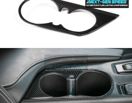 Carbon Fiber Cup Holder Cover | 2016-2020 Camaro