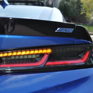 Smoked Sequential Tail Lights – Amber Signal | 2016-2018 Chevy Camaro
