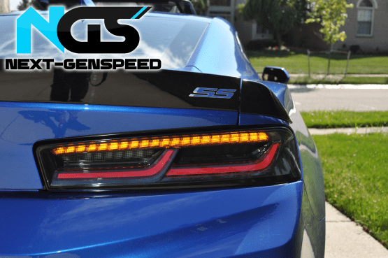 Smoked Sequential Tail Lights – Amber Signal | 2016-18 Camaro