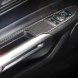 Carbon Fiber Window Switch Panels | 2015-2021 Ford Mustang