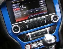 Colored Radio Bezel | 2015-2020 Ford Mustang
