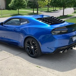 Gloss Black Rear Window Louvers | 2016-2021 Chevy Camaro