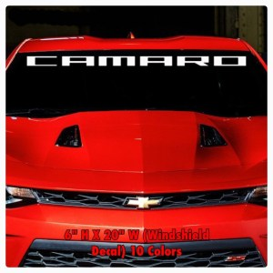 Camaro Windshield Decal | 10 Color – 6″ x 20″