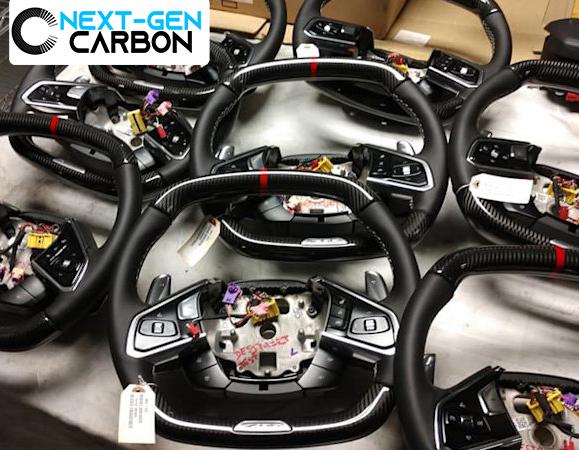 LED Carbon Fiber Steering Wheel | 2020+ Chevy Corvette C8