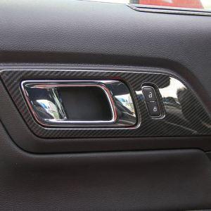 Carbon Fiber Door Handle Trim | 2015-2020 Ford Mustang