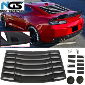 Rear Window Louvers | 2016-2021 Chevy Camaro