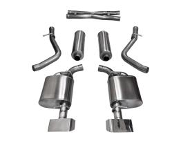 2.5 Inch Cat-Back Sport Dual Rear Exit Exhaust GTX2 Polished Tips 15-16 Dodge Challenger R/T 5.7L V8 Stainless Steel Corsa Performance