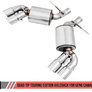AWE Tuning Touring Axle-back Exhaust – Quad Exhaust | 2016-2021+ Camaro SS/ZL1
