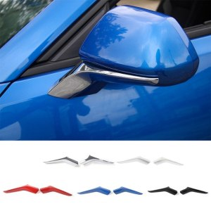Colored/Carbon Fiber Side Mirror Trim | 2016-2021 Chevy Camaro
