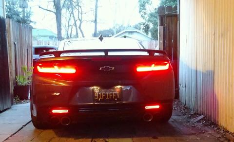 Helix LED Smoked Rear Bumper Reflectors   2016-2021 Camaro