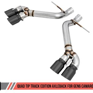 AWE Tuning Track Axle-back Exhaust – Quad Exhaust | 2016-2021+ Camaro SS/ZL1