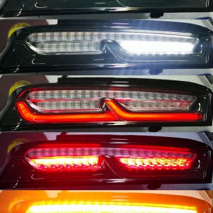 Smoked/Clear Tail Lights (Amber Signals)   2016 – 2018 Camaro