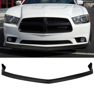 Matte Black Front Splitter | 2011-2014 Charger