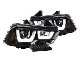 SPEC-D Smoked LED Sequential Headlights | 2011-14 Charger