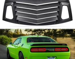 Rear Window Louvers v2 Style | 2008-19 Challenger