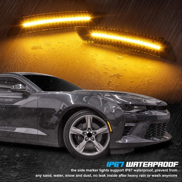 Smoked Side Markers | 2016-2021 Chevy Camaro