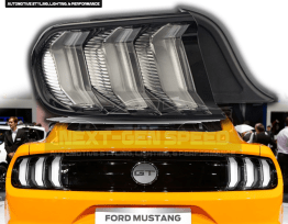 Clear Euro Style LED Tail Lights | 2015-2020 Ford Mustang