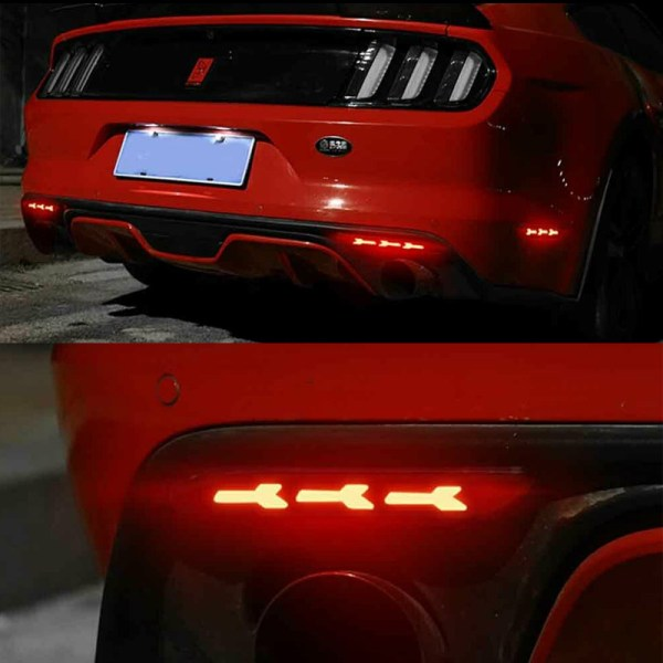Smoked LED Rear Reflectors | 2015-2017 Ford Mustang