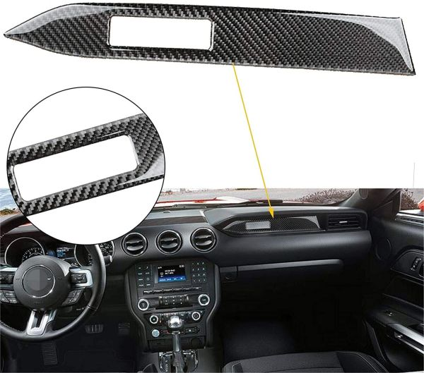 Real Carbon Fiber Dash Panel Cover | 2015-2020 Ford Mustang